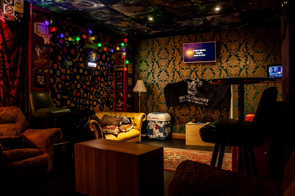 Karaoke room in Bloomsbury Lanes