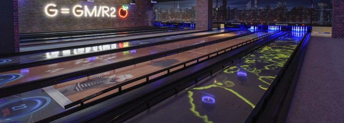 Bowling lanes at Gravity Wandsworth